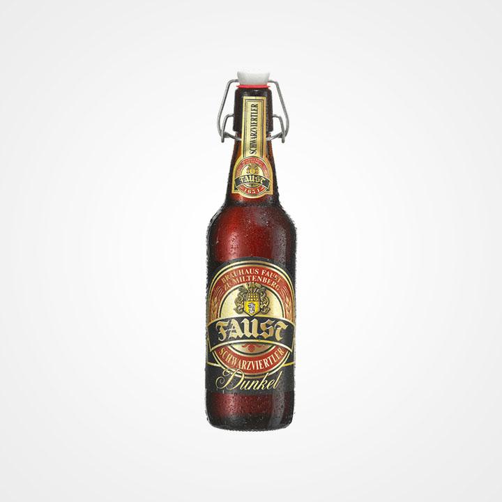 Bottiglia di Birra Faust Schwarzviertler Dunkel da 50cl