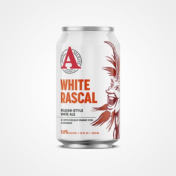 Lattina di birra White Rascal da 35,5cl